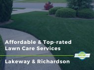 Looking for an affordable and top-rated lawn care services in Lakeway and Richardson? GoMow is here.