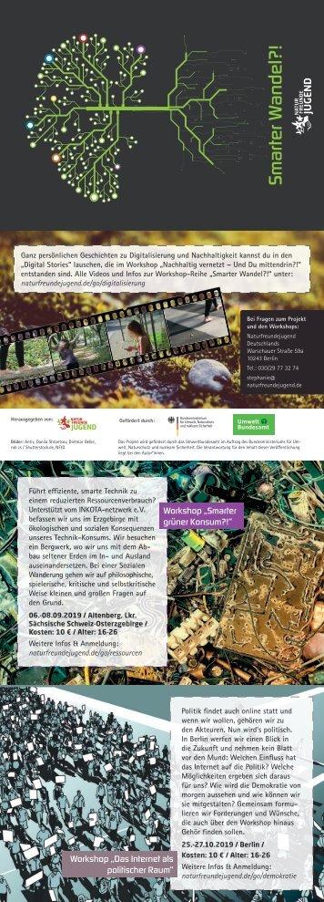 Flyer Digitalisierung & Nachhaltigkeit