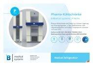 B Medical Systems Pharma-Kühlschränke P Reihe