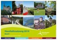 Band I - Haushaltssatzung, Vorbericht, Anlagen 2019