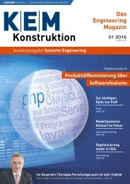 KEM Konstruktion Sonderausgabe Systems Engineering 01.2016