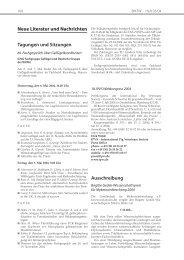 Neue Literatur und Nachrichten Tagungen und Sitzungen ... - Vetline