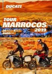 Tour Marrocos Ducati Norte  2019 Programa