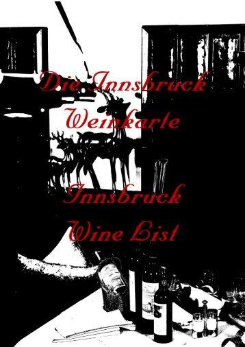 Weinkarte Das Innsbruck****