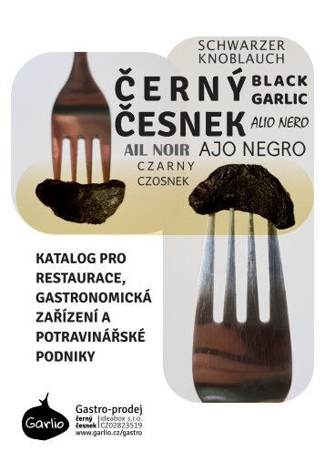 Katalog pro restaurace, gastronomická zařízení a potravinářské podniky