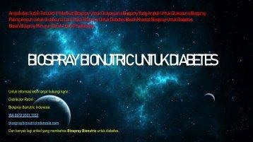 Manfaat Biospray Untuk Glukosuaria