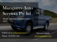 Mazspares Auto Services Pty ltd