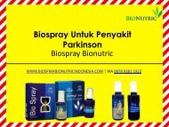 Obat Herbal Untuk Parkinson Biospray Bionutric