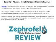 Zephrofel : Maximizes The Size And Girth Of The Penis