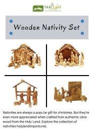 Outdoor Wooden Nativity Set | Holyland Imports