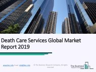 Death Care Services Global Market Report 2019