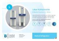 B Medical Systems Labor-Kühlschränke L Reihe