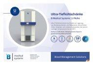 B Medical Systems Ultra-Tiefkühlschränke U Reihe