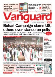 12022019 - Buhari Campaignn slams US, others over stance on polls