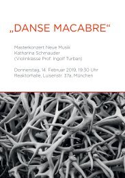 Danse Macabre: Masterkonzert Neue Musik Katharina Schmauder