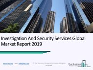 Investigation And Security Services Global Market Report 2019