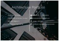 Architecture Portfolio : Khalid Waleed