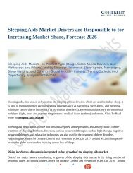 Sleeping Aids Market Trends Research And Projections For 2018-2026