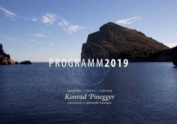 Konrad Pinegger Programm 2019