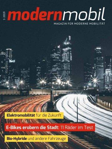 modern mobil - Magazin für moderne Mobilität - Ausgabe 01/2019