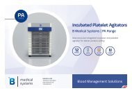 B Medical Systems Thrombozytenagitatoren PA Range