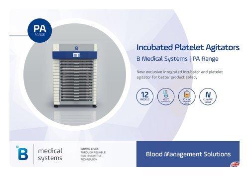 B Medical Systems Thrombozytenagitatoren PA Range