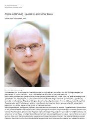 Aengste in Hamburg Hypnose Dr. phil. Elmar Basse