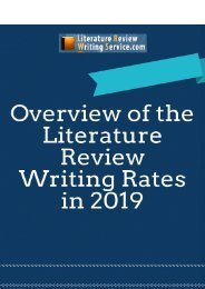 Overview of the Literature Review Writing Rates in 2019