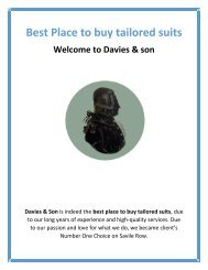 Best Place to Buy Tailored Suits | Davies & son