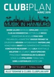 Clubplan Hamburg - März 2019