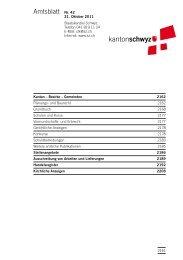 Amtsblatt Nr. 42 vom 21. Oktober 2011 (848 - Kanton Schwyz