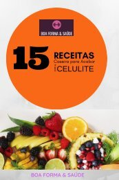 Ebook 15 receitas para acabar com a celulite