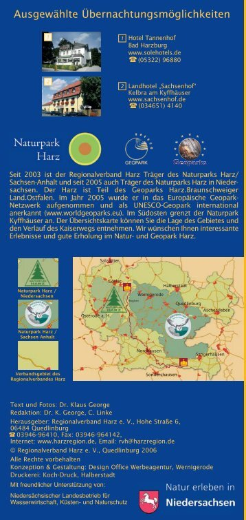 Dieses Faltblatt als .pdf - Regionalverband Harz e.V.