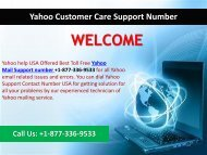 Yahoo Mail Toll-Free Number +1-877-336-9533 (USA)