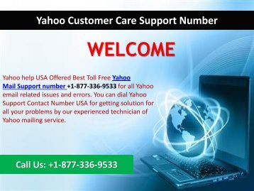 Yahoo Mail Toll Free Number 1 877 336 9533 Usa