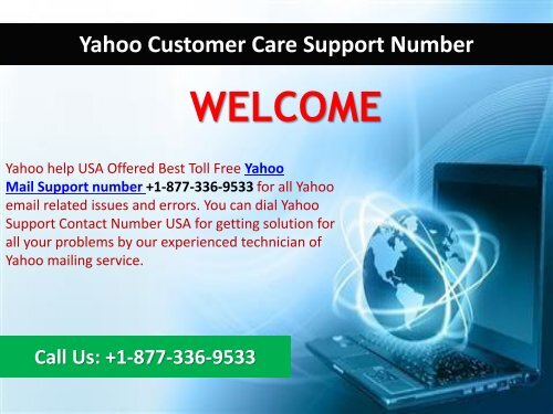 Yahoo Mail Toll-Free Number 1877-503-0107 (USA)