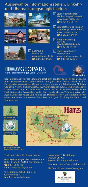 Von der Pfalz Derenburg in den - Regionalverband Harz e.V.