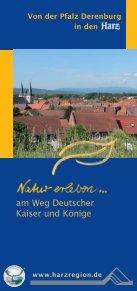 Von der Pfalz Derenburg in den - Regionalverband Harz e.V. - Page 6