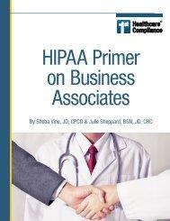 1sthcc ebook - HIPAA Primer on Business Associates