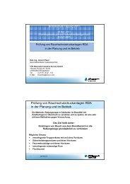 Prüfung von Rauchschutzdruckanlagen RDA in der Planung und im ...