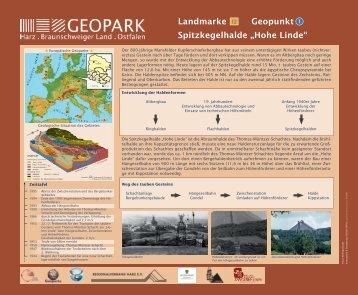 "Landmarke Geopunkt Spitzkegelhalde ""Hohe Linde"""