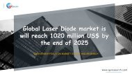 Global Laser Diode market is will reach 1020 million US$ by the end of 2025