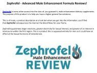 Zephrofel : Improves Blood Circulation Around The Area Of The Penis