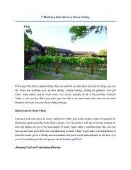 7 Must-try Activities in Swan Valley