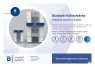 B Medical Systems Blutbank-Kühlschränke