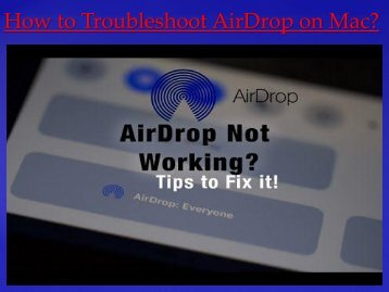 How to Troubleshoot AirDrop on Mac
