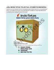 JUAL MESIN PENETAS TELUR DI PALEMBANG -0822-5705-4455