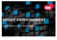 Referenzen Event Management Bright Entertainment AG 2019