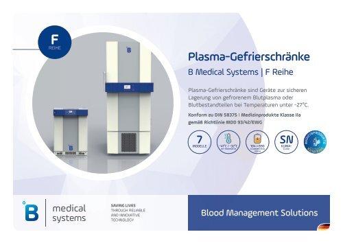 B Medical Systems Plasma-Gefrierschränke