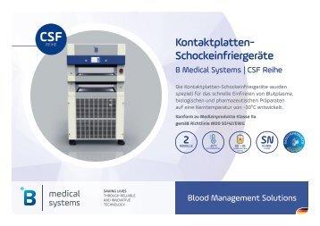 B Medical Systems Kontaktplatten-Schockeinfriergeräte